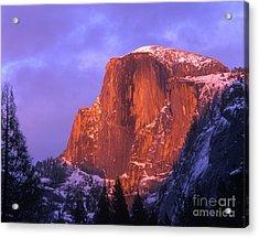 Half Dome Alpen Glow Acrylic Print