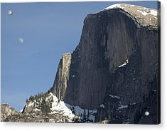 Half Dome And Moon Acrylic Print by Richard Berry