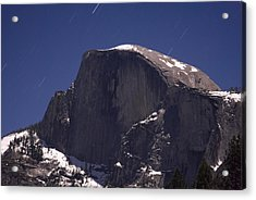 Half Dome And Star Trails Acrylic Print by Richard Berry