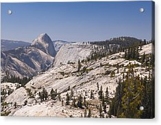 Half Dome And The High Sierra Acrylic Print by Richard Berry
