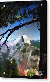 Half Dome Acrylic Print by Barbara D Richards