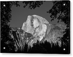 Half Dome Black And White Acrylic Print