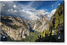 Half Dome From Four Mile Acrylic Print by Chris Martin