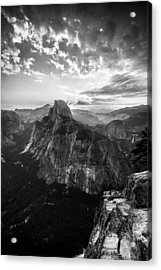 Half Dome In Black And White Acrylic Print