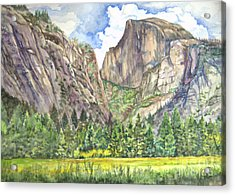 Half Dome In Spring Acrylic Print by Heewon Kim