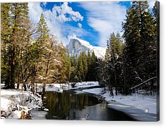 Half Dome In Winter Acrylic Print by Bonnie Fink