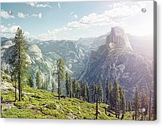 Half Dome In Yosemite With Foreground Acrylic Print