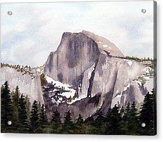 Half Dome Acrylic Print by Kari Raley