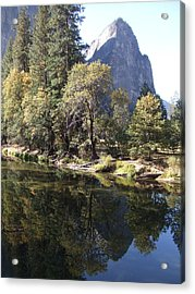 Acrylic Print featuring the photograph Half Dome Reflection by Richard Reeve