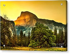 Half Dome Sunrise Acrylic Print