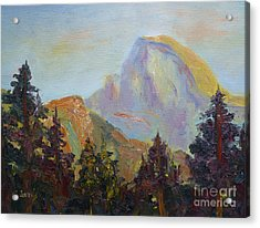Half Dome View Acrylic Print by Carolyn Jarvis