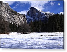 Half Dome Winter Snow Acrylic Print