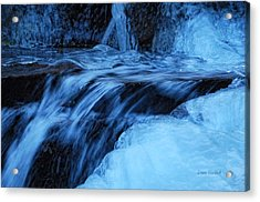 Half Frozen Acrylic Print by Donna Blackhall