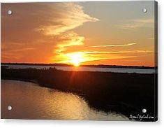 Acrylic Print featuring the photograph Half Sun Horizon by Robert Banach