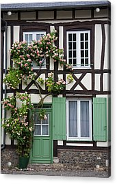 Half-timbered Facade With Roses Acrylic Print