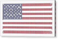 Halftone Us Flag Acrylic Print
