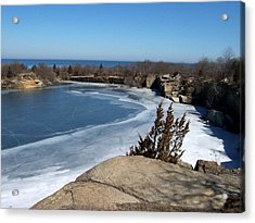 Icy Quarry Acrylic Print by Catherine Gagne
