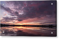 Halifax River Sunset Acrylic Print by Paul Rebmann