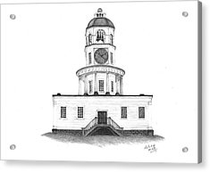 Halifax Town Clock Acrylic Print by Patricia Hiltz