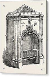 Hall Stove, Jermyn Street, London, Uk. This Acrylic Print by Pierce, English, 19th Century