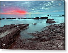 Hallett Cove Sunset Acrylic Print