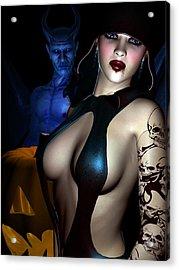 Halloween Acrylic Print by Alexander Butler