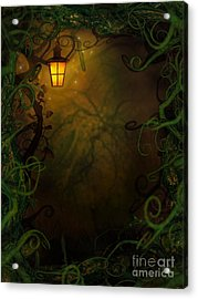 Halloween Background With Spooky Vines Acrylic Print by Mythja  Photography