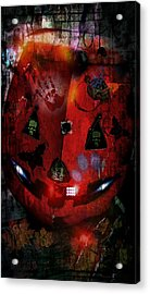 Halloween Acrylic Print by Denisse Del Mar Guevara