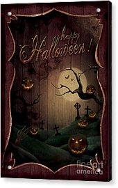 Halloween Design - Pumpkins Theatre Acrylic Print by Mythja  Photography