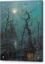 Halloween Ghost Acrylic Print by Tom Shropshire