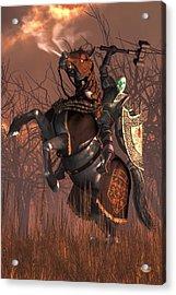 Halloween Knight Acrylic Print