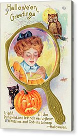 Hallowe'en Magic - Lighting Acrylic Print by Mary Evans Picture Library