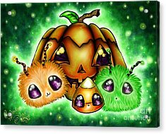 Halloween Menagerie Acrylic Print by Coriander  Shea