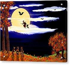 Halloween Night Acrylic Print by Michele Avanti