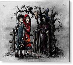 Halloween Night Acrylic Print by Rachel Christine Nowicki