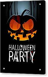 Acrylic Print featuring the painting Halloween Party by Gianfranco Weiss