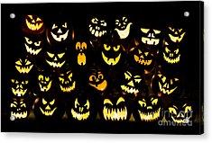Halloween Pumpkin Faces Acrylic Print by Tim Gainey