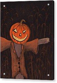 Halloween Scarecrow Acrylic Print by Anastasiya Malakhova