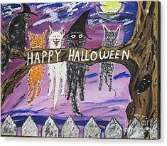 Halloween Scaredy Cats Acrylic Print
