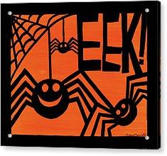 Halloween Silhouette Iv Acrylic Print by Anne Tavoletti