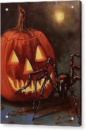 Halloween Spider Acrylic Print by Tom Shropshire