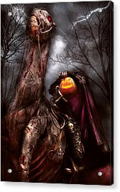 Halloween - The Headless Horseman Acrylic Print by Mike Savad