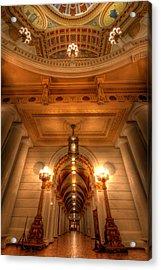 Halls Of Gold Acrylic Print by Lori Deiter