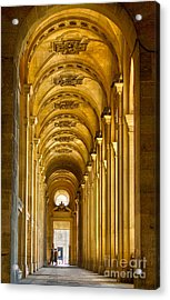 Hallway At The Louvre In Paris Acrylic Print by Cynthia Lagoudakis