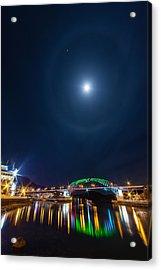 Halo Above The Bridge Acrylic Print