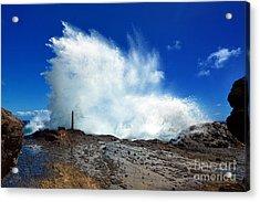 Halona Blowhole Crashing Wave Acrylic Print by Aloha Art