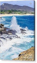 Acrylic Print featuring the photograph Halona Blowhole Huge Geyser by Aloha Art