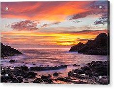 Halona Cove Sunrise 4 Acrylic Print by Leigh Anne Meeks