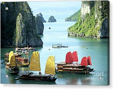 Halong Bay Sails 01 Acrylic Print