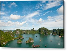 Acrylic Print featuring the photograph Halong Bay Vietnam by Michalakis Ppalis